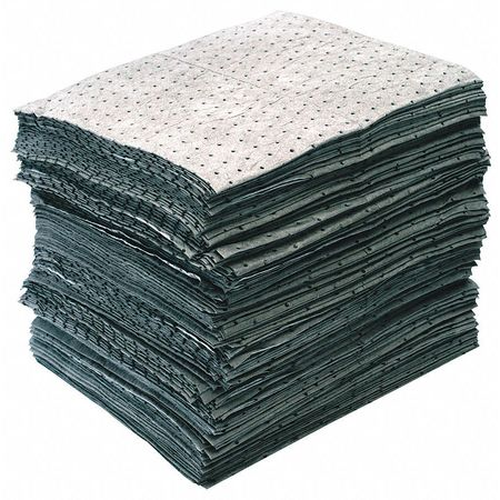Absorbent Pads, 27 gal, 15 x 19 In, PK200