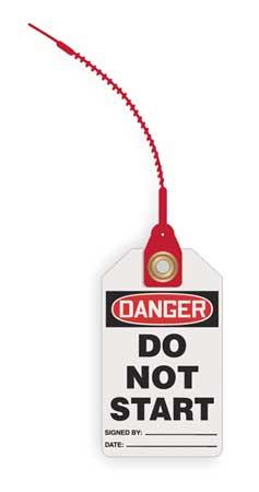 Danger Tag, 5-3/4 x 3-1/4 In, Plstc, PK10