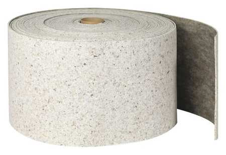 Absorbent Roll, Gray, 27 gal., 14-1/4 In. W