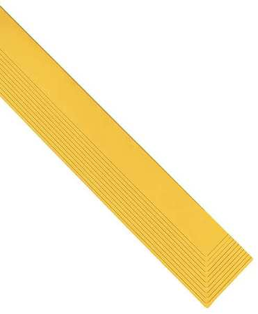 "Mat Edging, Yellow, 3"" x 3ft. 3"""