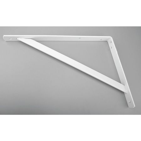 Heavy Duty Shelf Bracket, White, 500 Lb
