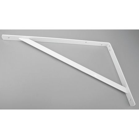 Heavy Duty Shelf Bracket, White, 500 Lb