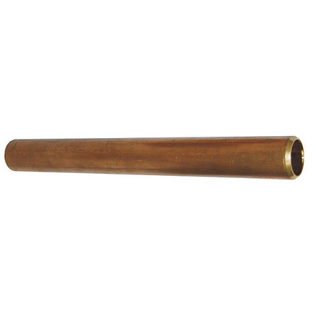 "1-1/4"" x 12"" Non-Threaded Red Brass Pipe"