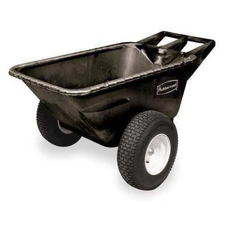 Big Wheel Cart, HD, 1/4 cu yd, 700 lb, Black