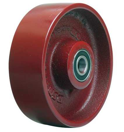 Caster Wheel, Cast Iron, 6 in., 1400 lb.