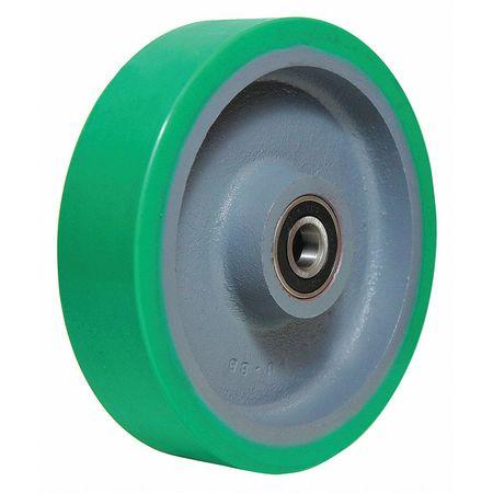 Caster Wheel, Polyurethane, 8 in., 1500 lb.