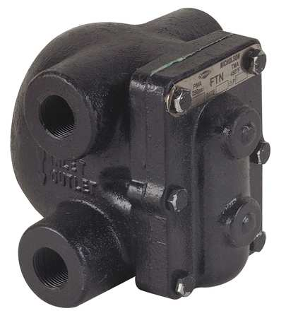 Steam Trap, 450F, Cast Iron, 0 to 125 psi