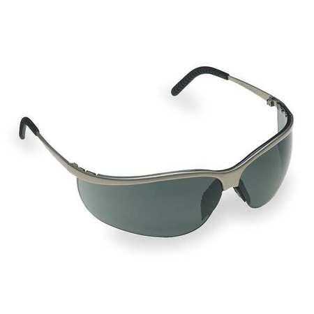 3M Gray Safety Glasses,  Anti-Fog,  Half-Frame