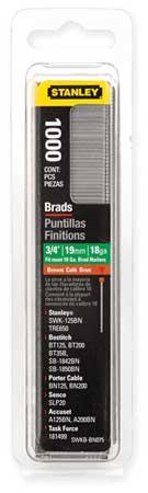 Brad Nails, 3/4 In, PK1000
