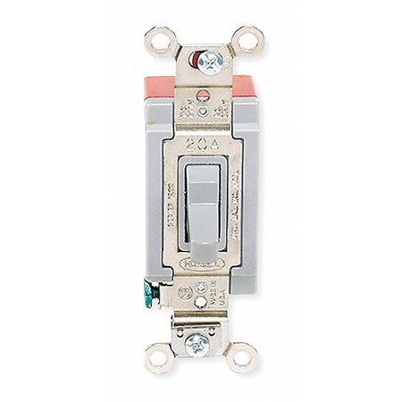 Wall Switch, 4-Way, 120/277V, 20A, Gry, Toggl