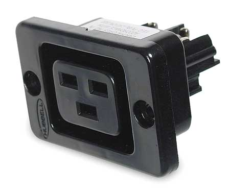 20A Single Non-NEMA Receptacle 250VAC BK