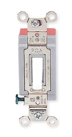 Wall Switch, 4-Way, 120/277V, 20A, Wht, Toggl