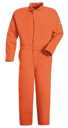 Flame Resistant Contractor Coverall,  Orange,  L