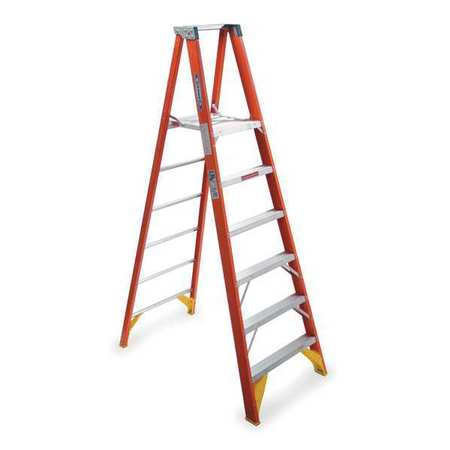 Platform Stepladder,  6 ft. ,  FGL,  300 lb.
