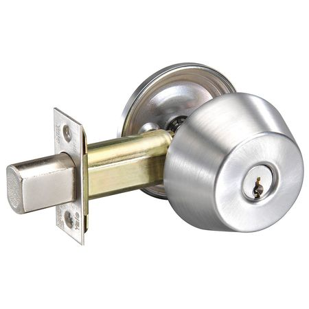 Deadbolt, Med.Duty, Satin Chrome