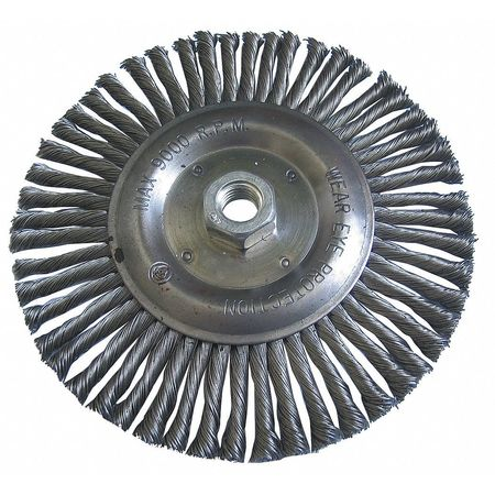 "Stringer Wheel,  6"" Dia,  SS,  0.0200 Wire"