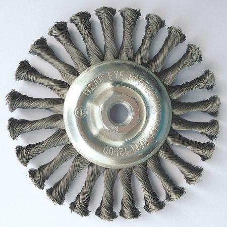 "Stringer Wheel,  6"" Dia,  Steel,  0.0200 Wire"