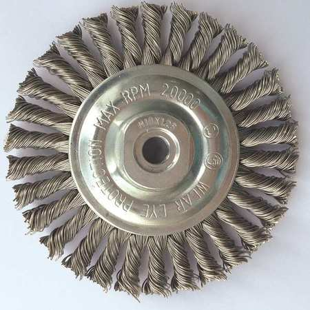 "Stringer Wheel,  4"" Dia,  SS,  0.0200 Wire"