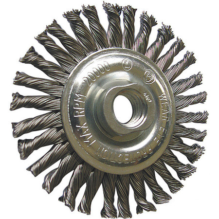 "Stringer Wheel,  4"" Dia,  Steel,  0.0200 Wire"