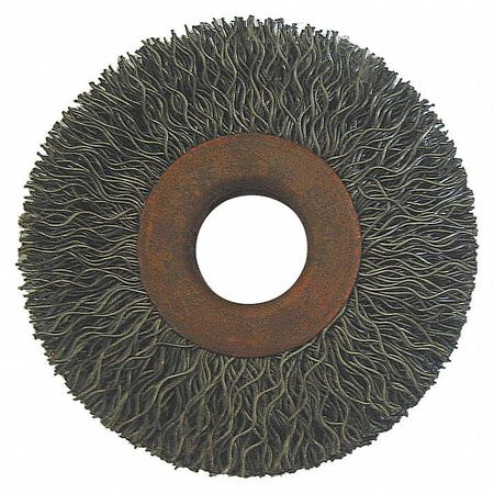 "Wire Wheel,  3"" Dia,  Steel,  0.0140 Wire"