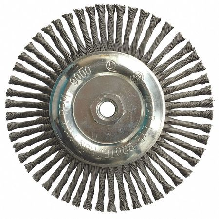 "Stringer Wheel,  7"" Dia,  SS,  0.0200 Wire"