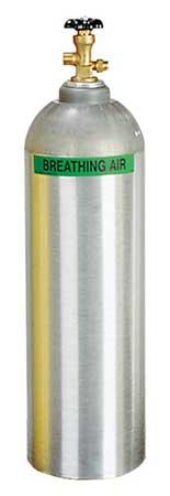 SCBA Cylinder, 2216 psi, Aluminum, Gray