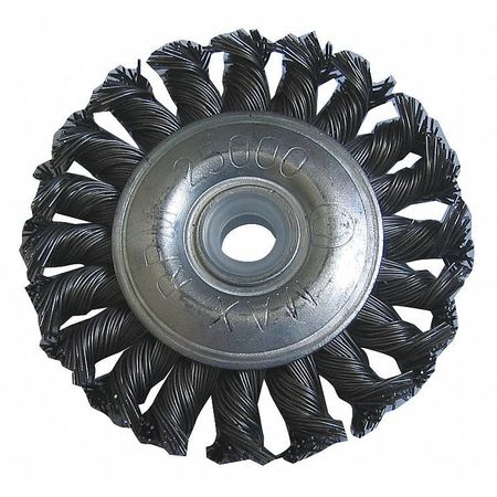 "Wheel Wire Brush,  3"" Dia,  Steel,  0.0140 Wire"