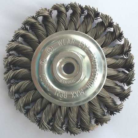 "Wheel Wire Brush,  4"" Dia,  Steel,  0.0200 Wire"
