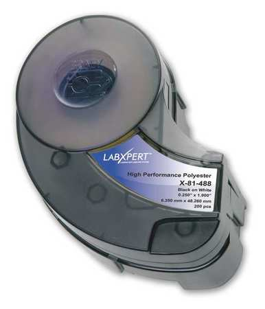 Label Cartridge, Black/White, 1-8/9 In. W