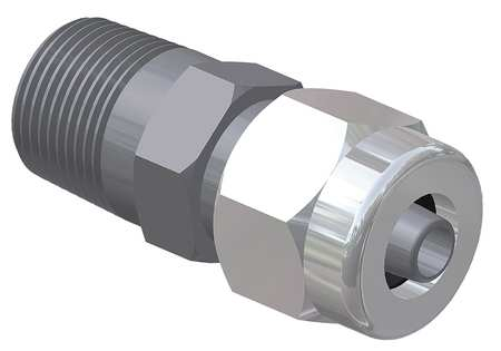 Male Adaptor,  3/4x1/2 In,  NPT x Tube