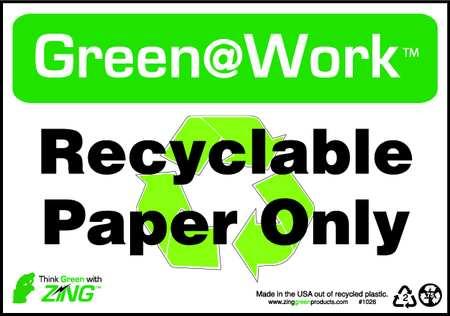 Environmental Awareness Sign, 7 x 10In
