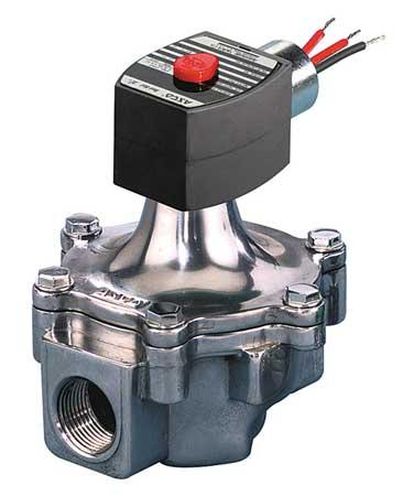"""1-1/4"""" NPT 2-Way Air & Fuel Gas Solenoid Valve 120VAC"""