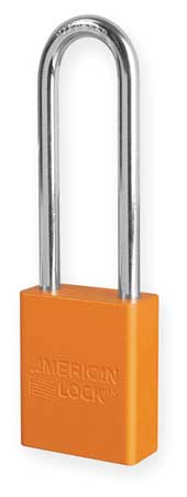 "Lockout Padlock, KA, Orange, 1-7/8""H"
