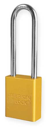 "Lockout Padlock, KD, Yellow, 1-7/8""H"