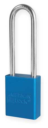 "Lockout Padlock, KA, Blue, 1-7/8""H"