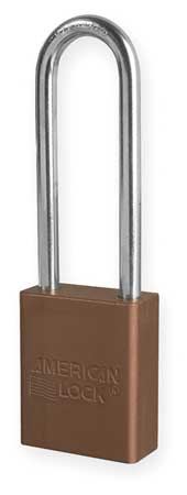 "Lockout Padlock, KD, Brown, 1-7/8""H"