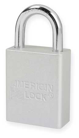 "Lockout Padlock, KD, Silver, 1-7/8""H"