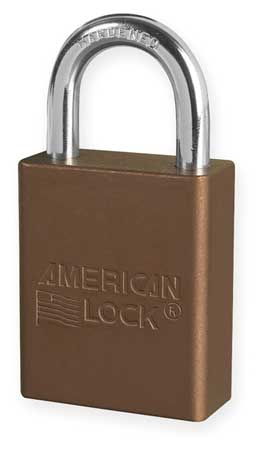 "Lockout Padlock, KA, Brown, 1-7/8""H"