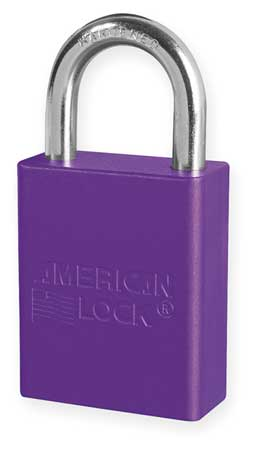 "Lockout Padlock, KD, Purple, 1-7/8""H"