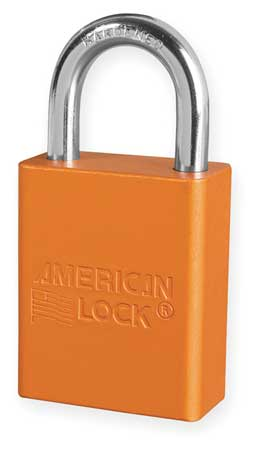 "Lockout Padlock, KD, Orange, 1-7/8""H"