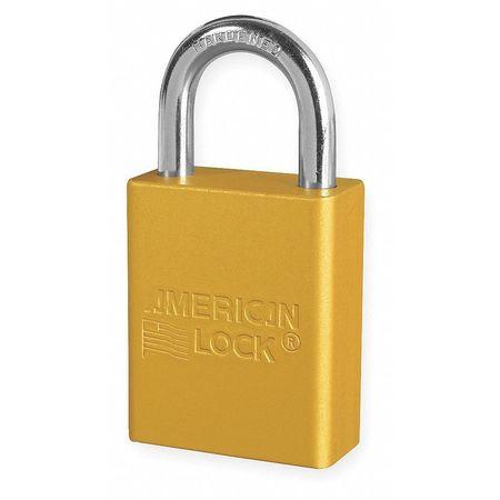 "Lockout Padlock, KA, Yellow, 1-7/8""H"
