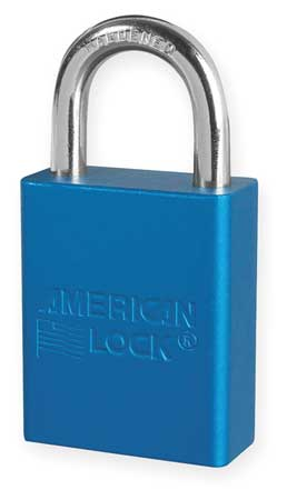 "Lockout Padlock, KD, Blue, 1-7/8""H"
