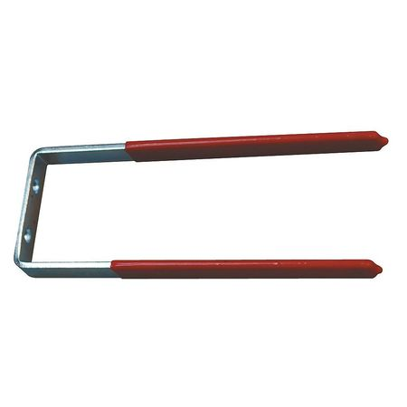 Steel Hook, Red Vinyl Coated, 1/2 In L