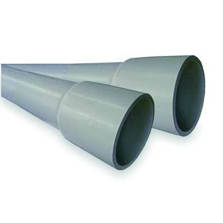 Schedule 80 Conduit, 4 In., 10 ft. L, PVC