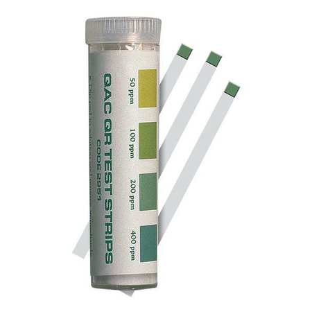 Test Strips, QAC, 50 to 400 PPM, PK100