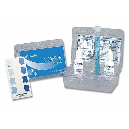 Water Testing Kit, Copper, 0.05 to 1.0 PPM