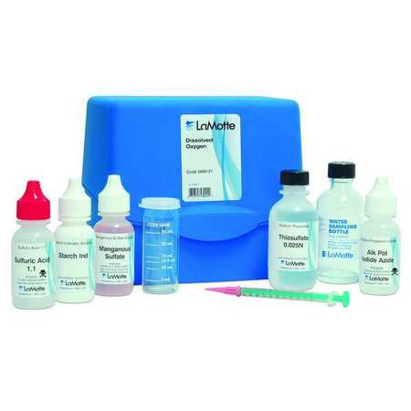 Water Testing Kit, Oxygen, 0 to 10 PPM