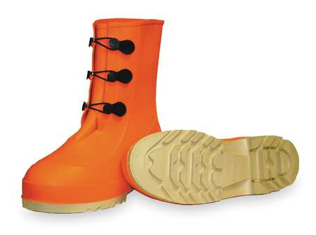 "Hazproof Mid-Calf Boot,  Sz 8,  11"" H,  Orange,  Steel Toe,  PR"