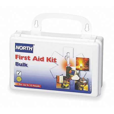 First Aid Kit, Bulk, White, 10 People