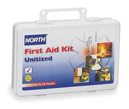 First Aid Kit, Unitized, White, 36 People